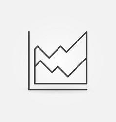 Area chart thin line concept minimal icon vector
