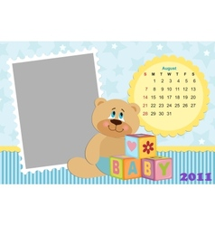 Babys monthly calendar for 2011 vector image
