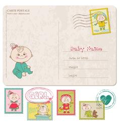Bagirl greeting postcard vector