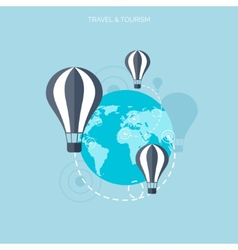 Balloon icon World travel concept background vector image