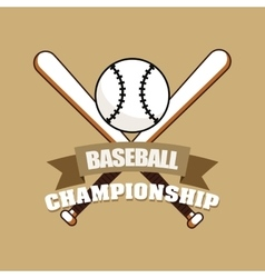 Baseball championship ball bats vector