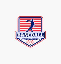 Baseball logo badge-9 vector