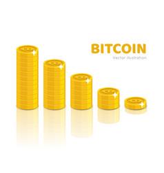 bitcoin stack set vector image