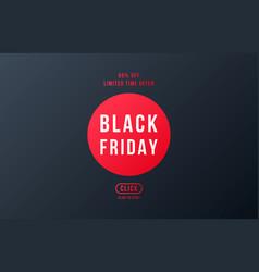 black friday sale banner minimal style black vector image