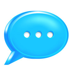 Blue speech bubble icon chat room sign vector
