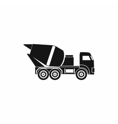 Building mixer for concrete icon simple style vector image