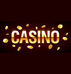 casino gambling game banner with casino vector image