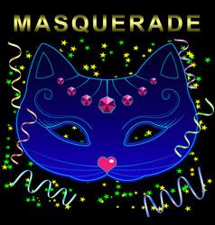 cat carnival mask vector image
