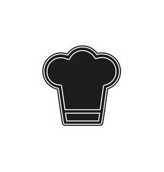 chef cap - restaurant symbol cooking food sign vector image