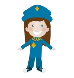 Child dressed as police officer icon image vector