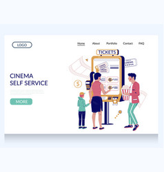 cinema self service website landing page vector image