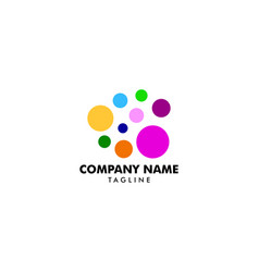 colorful circle logo design vector image