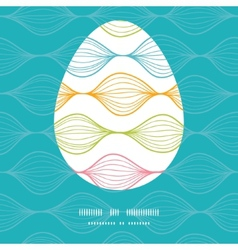 Colorful horizontal ogee Easter egg vector
