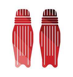 Cricket leg protection icon vector