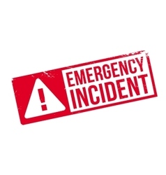 Emergency Incident rubber stamp vector image
