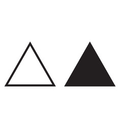 equilateral triangle icon line triangle vector image