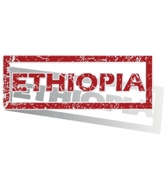 Ethiopia outlined stamp vector