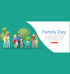 Family day with traditional father mother vector