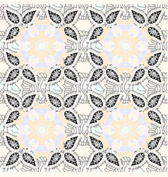 Flowers on neutral white and beige colors cute vector