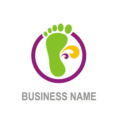 Foot step logo vector