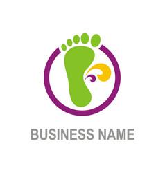 foot step logo vector image