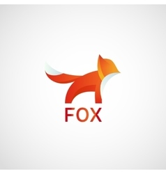 fox logo abstract icon vector image