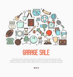 Garage sale or flea market concept vector