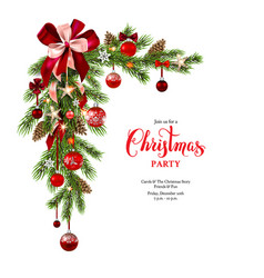 garland holiday decoration vector image