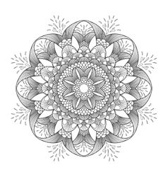 Graphic fish circle ornament vector image vector image