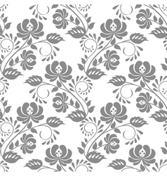 Gray rose on white background vector