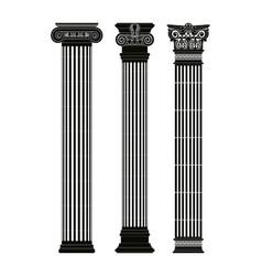 Greek capitals columns vector