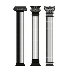 Greek capitals of columns vector