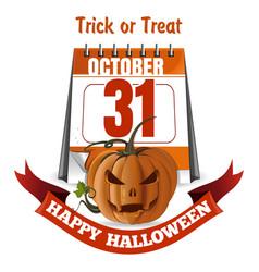 halloween design happy halloween trick or treat vector image