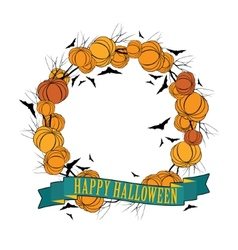 Halloween wreath 3 vector image