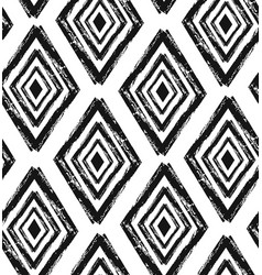 hand drawn seamless diamond shapes pattern in vector image