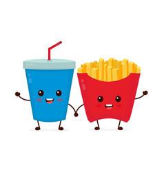 happy smiling funny cute soda vector image