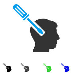 Head screwdriver tuning flat icon vector
