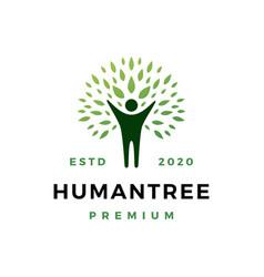 human tree logo icon vector image