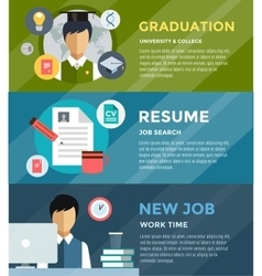 Job search after university infographic Students vector image