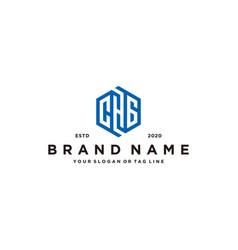 Letter chg logo design vector