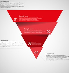 Light inforgraphic with triangle divided to four vector