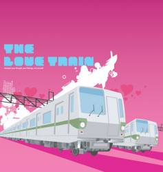 Love train vector