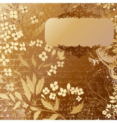 Luxury grunge golden background with handdrawn vector