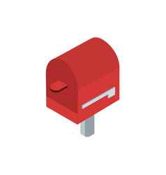 mailbox stick correspondence postal mail isometric vector image