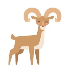 Mountain deer vector
