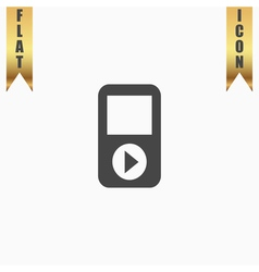 MP3 player flat icon vector image