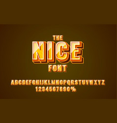 nice line font set collection letters and numbers vector image
