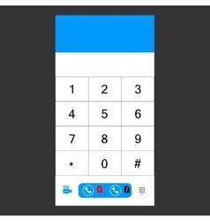 Number set keypad for the smartphone vector