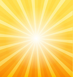 Orange sunray background vector image