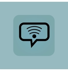 Pale blue Wi-Fi message icon vector